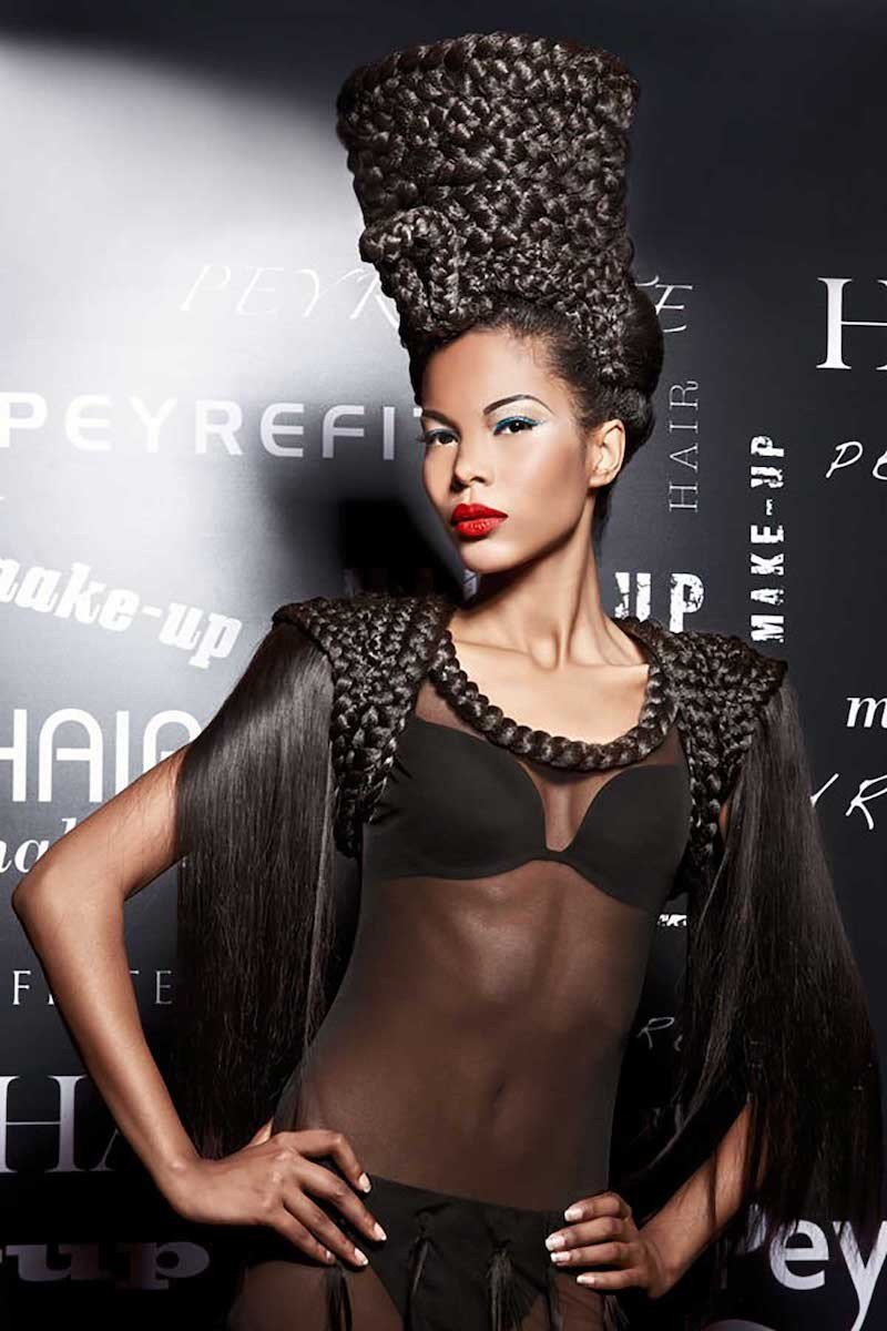 Pose de perruque et technique du tressage.