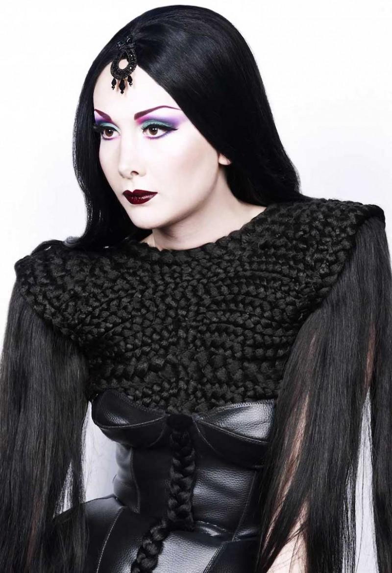 Maquillage gothique.