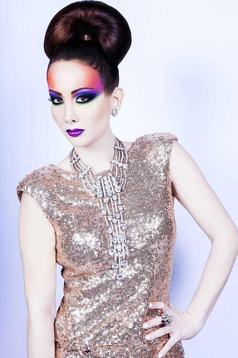 Maquillage Mode : technique de dégradé de couleurs.