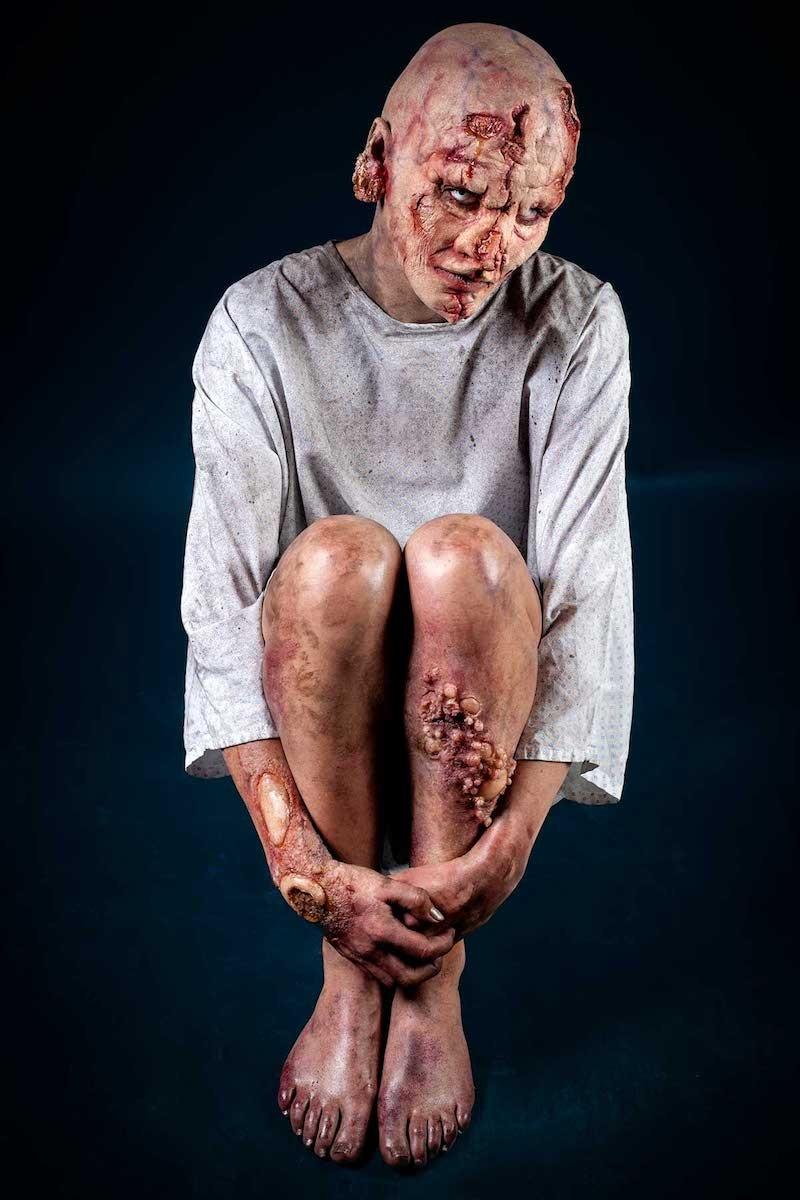 Maquillage sfx zombie, mort vivant. Maquilleur prothésiste effets spéciaux.