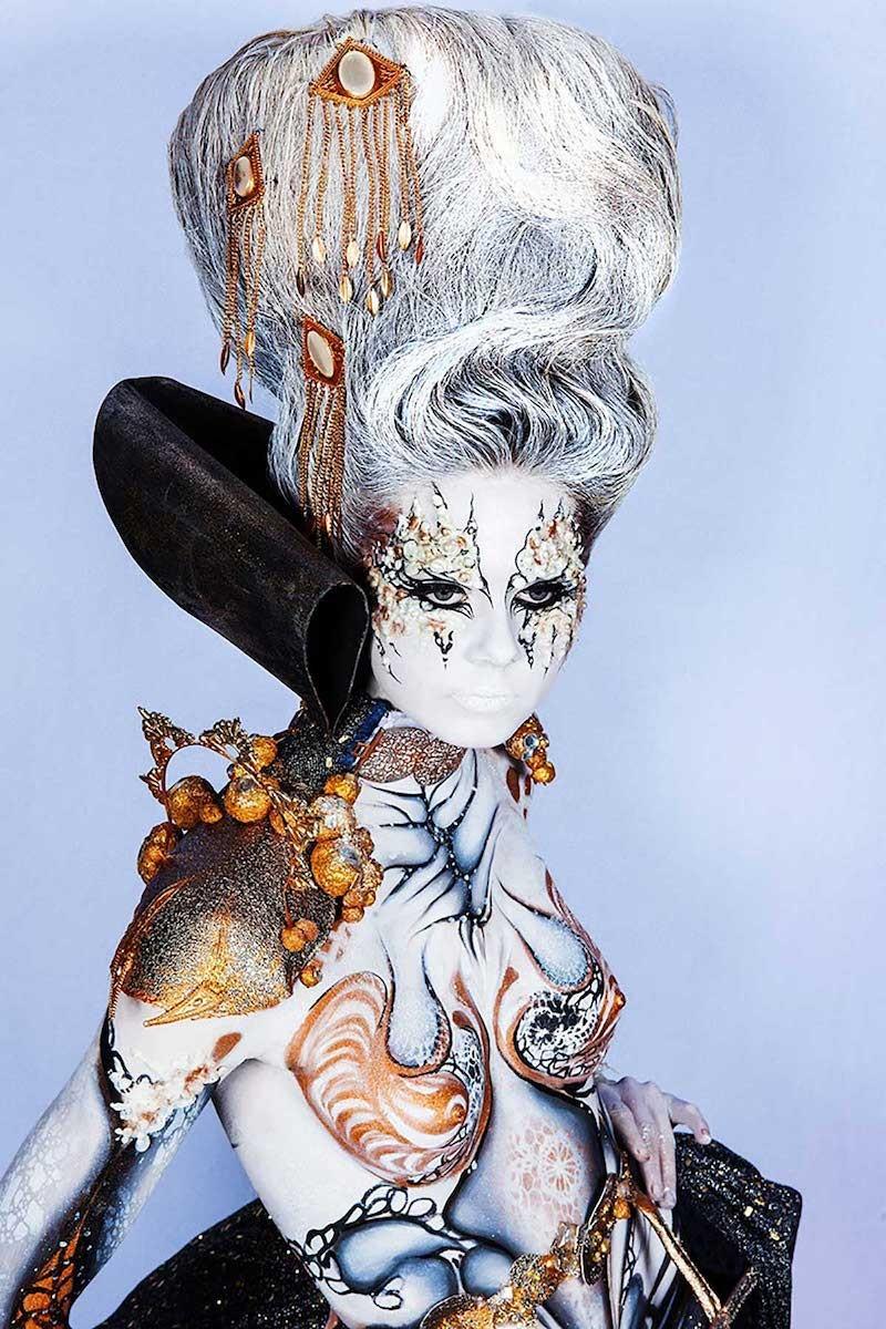 Maquillage et coiffure artistique, Body et face painting.
