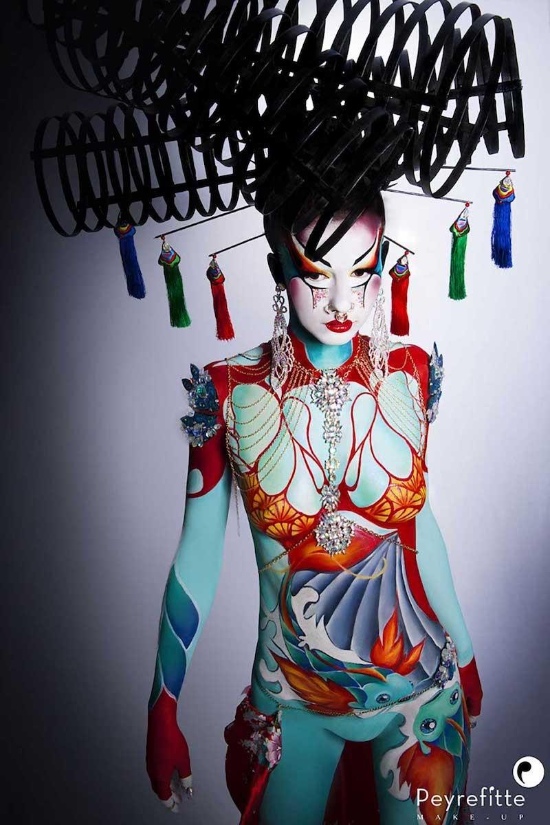 Body paint total corps et face paint.