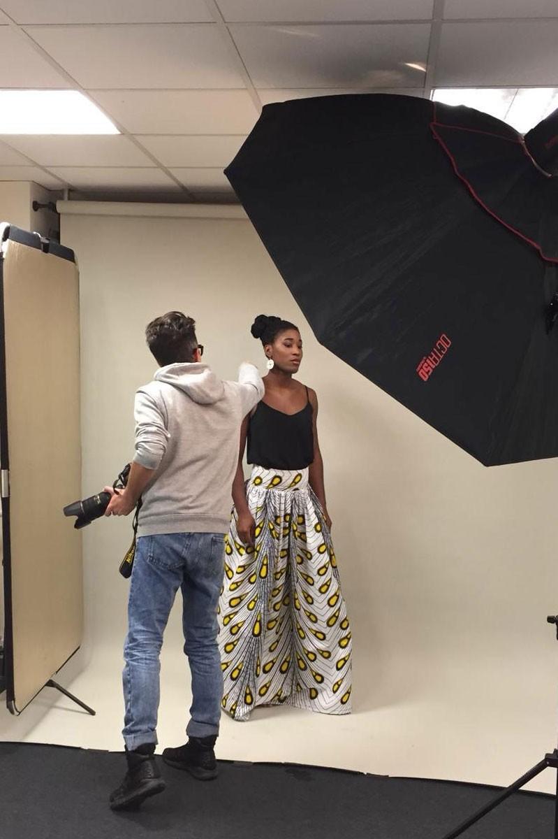 Shooting photo Beauté Ethnique au sein du studio Photo de l'école Peyrefitte Make-up.