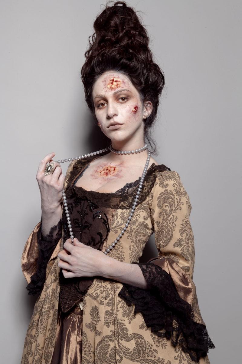 Maquillage historique zombie effet spéciaux.