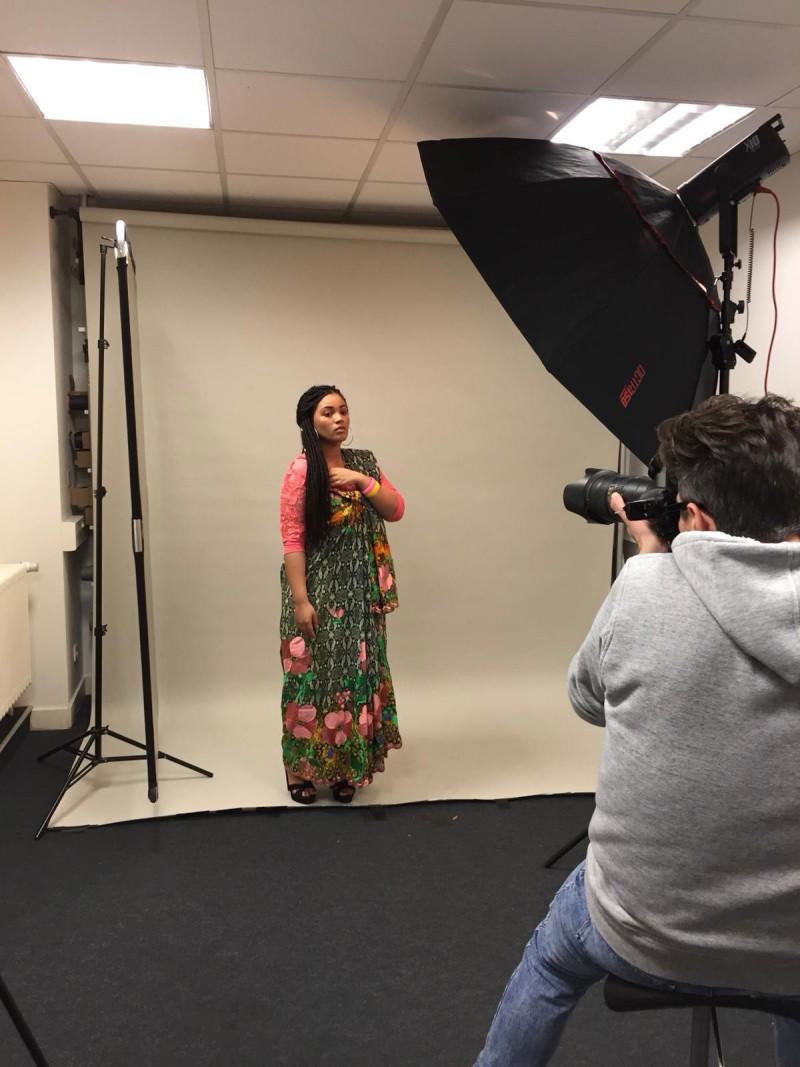 Premier shooting photo des étudiants Peyrefitte Make-Up sur le thème : Beauté Ethnique.