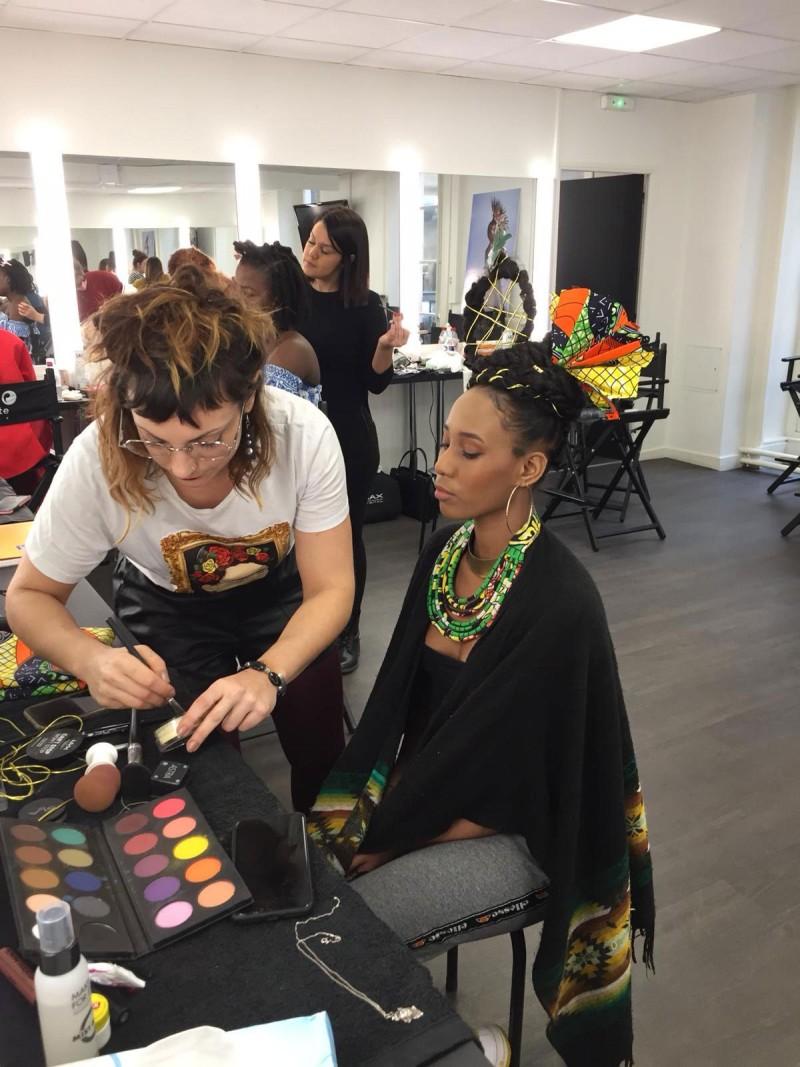 Dans les coulisses du premier shooting photo des étudiants Peyrefitte Make-up.